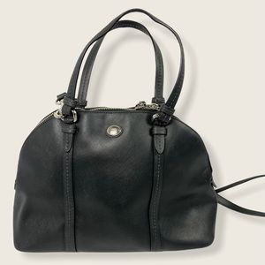 Coach Peyton Dome Satchel Black Leather F25671 Bag